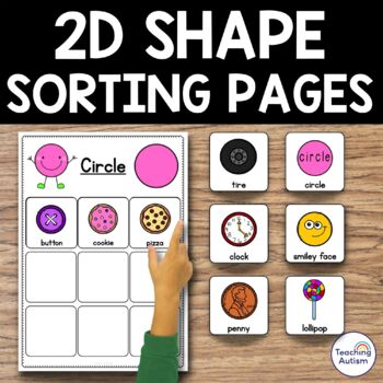 2D Shapes Sorting Pages