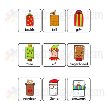 2D Shapes Sorting Pages Christmas