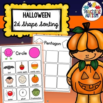 2D Shapes Sorting Pages - Halloween