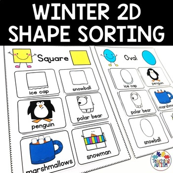 2D Shapes Sorting Pages Winter