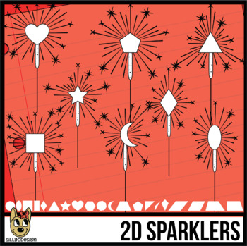 2D Shapes: Sparklers Clipart