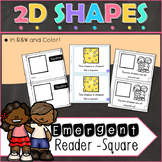 2D Shapes Square Emergent Reader