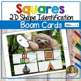 2D Shapes Squares Digital Game   Boom Cards   Distance Learning