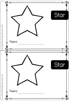 2D Shapes Star Emergent Reader