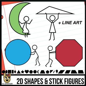 2D Shapes & Stick Figures