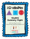 2D Shapes Summary Pages