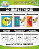 2D Shapes Symmetry Skill Activity Pack {Zip-A-Dee-Doo-Dah Designs}