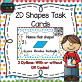 2D Shapes Task Cards: 1st Grade CC: Reason with shapes and