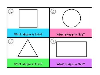 2D Shapes Task Cards