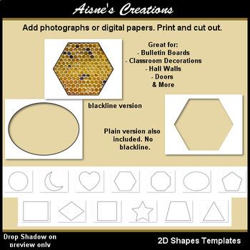2D Shapes Templates