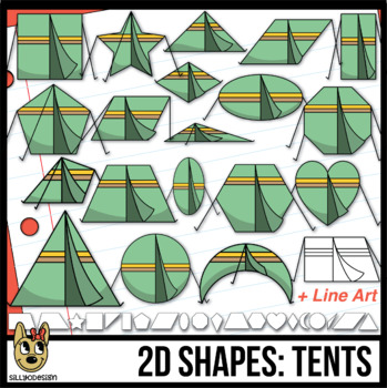 2D Shapes: Tent Clipart