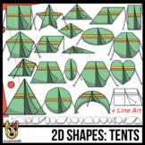 2D Shapes: Tent Clipart