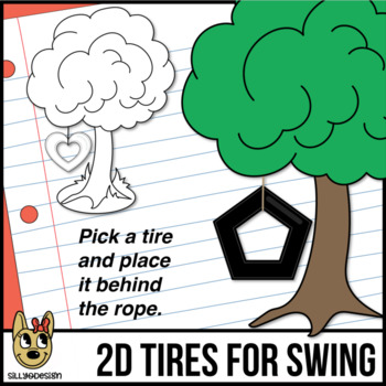 2D Shapes: Tire Swing Tires Clip Art