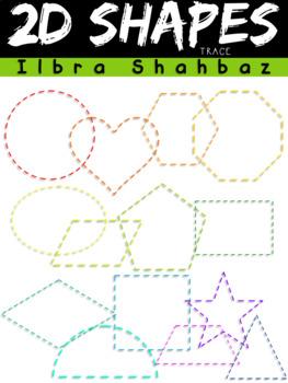 2D Shapes Trace Clipart