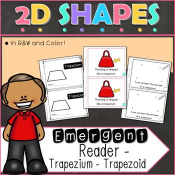 2D Shapes Trapezium Emergent Reader