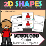 2D Shapes Trapezium Emergent Reader