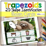2D Shapes Trapezoids Digital Game   Boom Cards   Distance