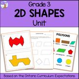 2D Shapes Unit for Grade 3 (Ontario Curriculum)