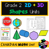 2D and 3D Shapes Geometry Unit Second Grade