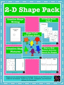 2D Shapes Value Pack: Crafts, Writing, Activities
