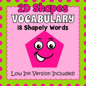 Basic Shapes Vocabulary Cards
