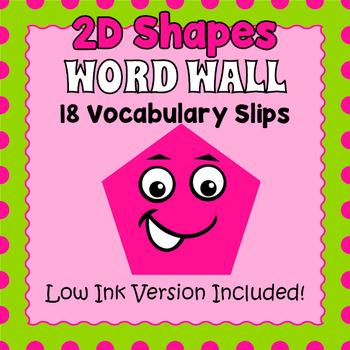 Basic Shapes Word Wall