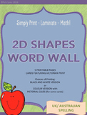 2D Shapes Word Wall - UK/AUS