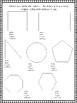 2nd Grade Shapes Worksheet / Assessment (Front and Back or Two Pages)