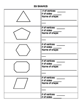2d shapes worksheets by leanne howse teachers pay teachers. Black Bedroom Furniture Sets. Home Design Ideas