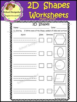 2D Shape Worksheets - Activities (School Designhcf)