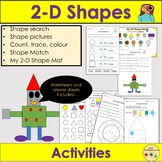 Shapes 2D Shapes, Worksheets/Activities,Shape Pictures - YR/KS1