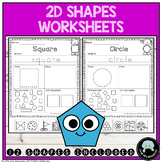 2D Shapes Worksheets Mixed Activities   12 Shapes Included