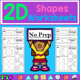 2D Shapes Worksheets (No Prep) ~Easy~