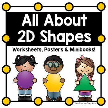 2D Shapes {Worksheets, Posters, and Mini-books}