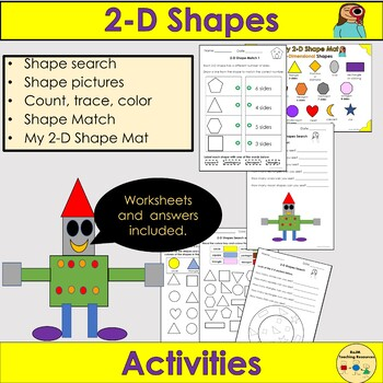 Shapes 2d Shapes Worksheets And Activities Shape Pictures Prekk