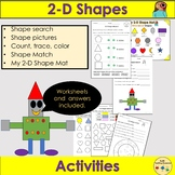 Shapes 2D Shapes Worksheets and Activities, Shape Pictures -PreK/K/Grade 1