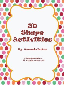 2D Shapes Worksheets for Pre-K - 3