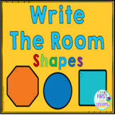 2D Shapes Write The Room Activity