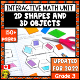 2D Shapes and 3D Objects Interactive Notebook Grade 3