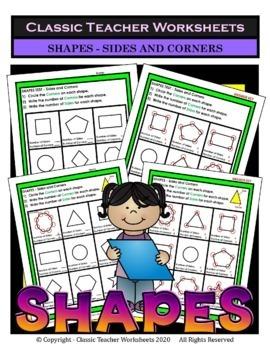 2D Shapes and 3D Shapes Bundle - Set 1 - 2nd-3rd Grade (Grades 2-3)
