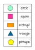 2D Shapes and 3D Solids Task Freebie