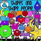 2D Shapes and Shape People Clip Art Set - Chirp Graphics