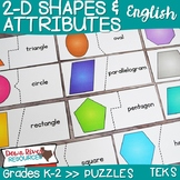 2D Shapes and Their Attributes Puzzles | Two-Dimensional S