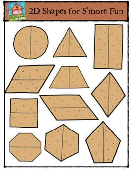 2D Shapes for S'more Fun {P4 Clips Trioriginals Digital Claip Art}