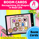2D Shapes in Real Life BOOM Cards Distance Learning