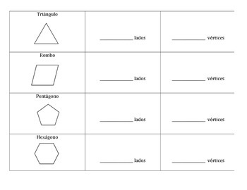 2D Shapes in Spanish - Figuras 2D