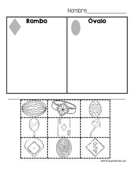 2D Shapes in Spanish (Figuras geométricas - formas)