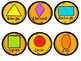 2D Shapes Math Center- Flower Puzzles