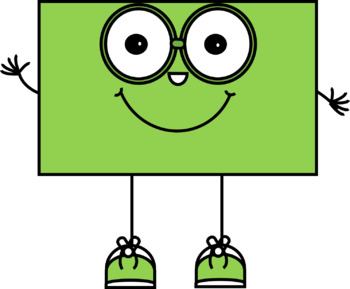 Happy 2D Shapes with Big Glasses Clip Art
