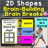 2D Shapes with Movement Brain Breaks Google Slides PowerPo